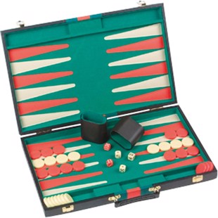 Backgammon Case Black 46x29cm