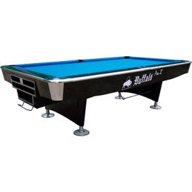 Buffalo Pro-II Pool Table 8ft Black, Drop Pocket