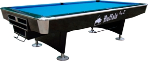Buffalo Pro-II Pool Table 9ft Black, Drop Pocket