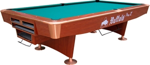 Buffalo Pro-II Pool Table 9ft Brown, Drop Pocket